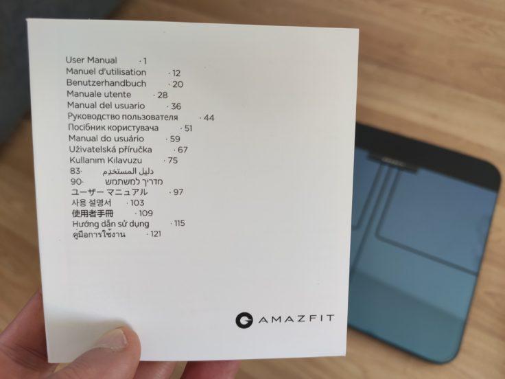 Amazfit Smart Scale smarte Waage Bedienungsanleitung