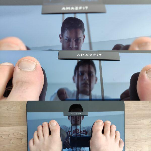Amazfit Smart Scale smarte Waage Spiegelung Oberfläche