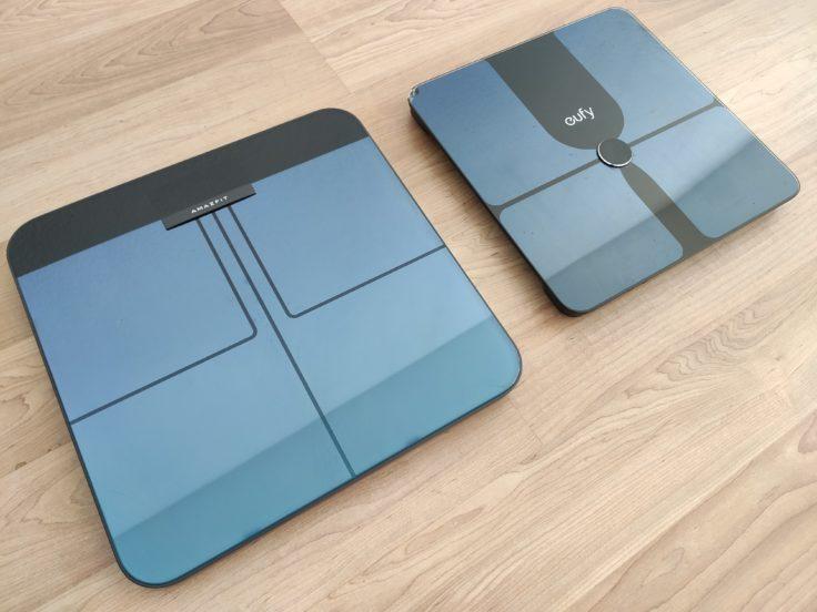 Amazfit Smart Scale smarte Waage Vergleich Design Anker eufy P1