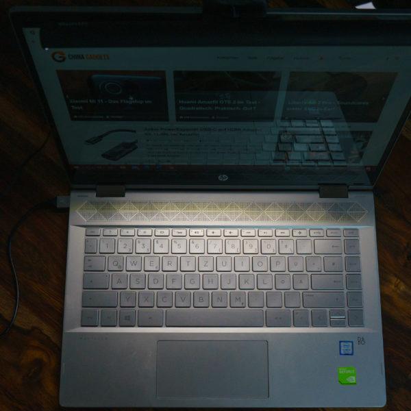 Quntis Laptop Lampe Farbwiedergabe