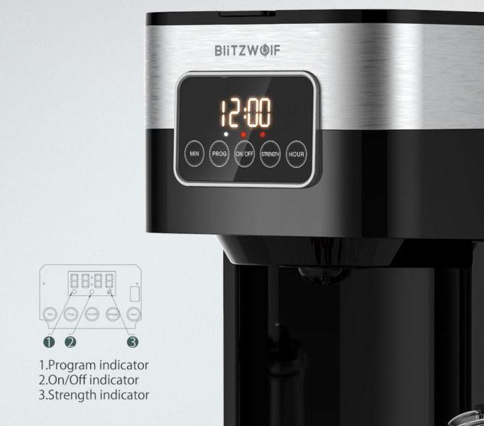 BlitzWolf BW-CMM1 Filterkaffeemaschine Touchscreen Display