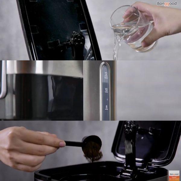 BlitzWolf BW-CMM1 Filterkaffeemaschine Vorbereitung Kaffee kochen