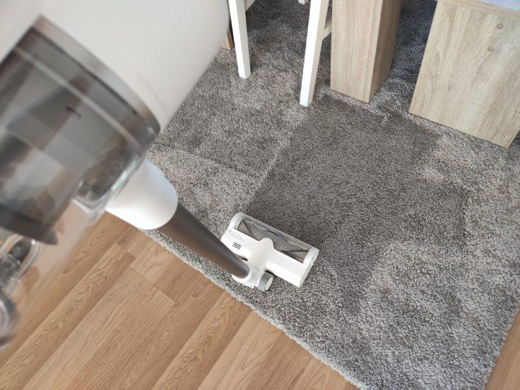 Dreame T10 Akkusauger Teppich Saugkraft