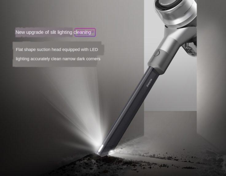 Dreame V12 Akkusauger Handsauger Licht LEDs Rillenaufsatz