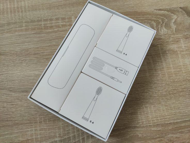 Fairywill D7 elektrische Zahnbürste Verpackung Einzelteile