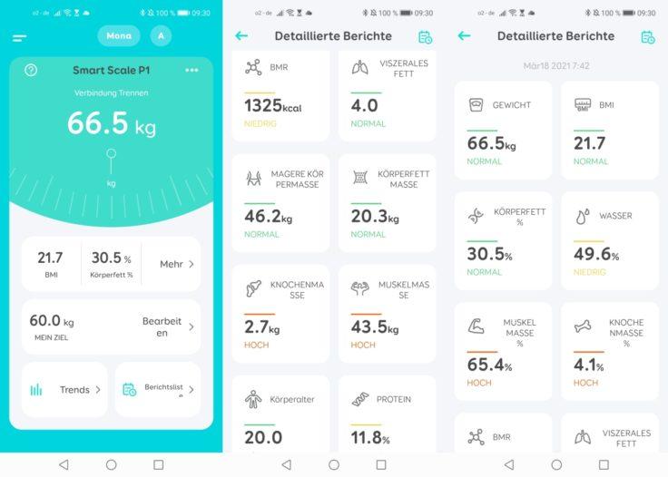 Honor Scale 2 smarte Waage Vergleich Anker eufy P1
