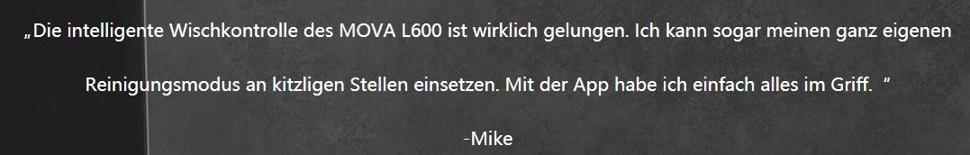 Mova L600 Saugroboter Werbung Mike