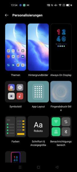 OPPO Find X3 Lite Color OS Personalisierungen
