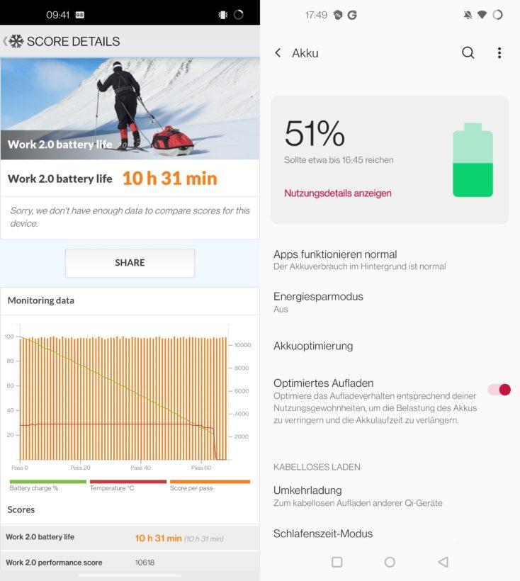 OnePlus 9 Pro Akku