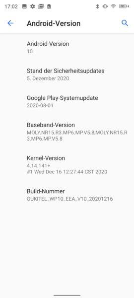 Oukitel WP10 Screenshot Android
