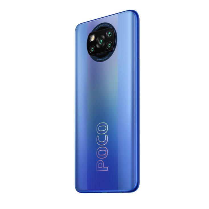 POCO X3 Pro Smartphone Blau Rueckseite