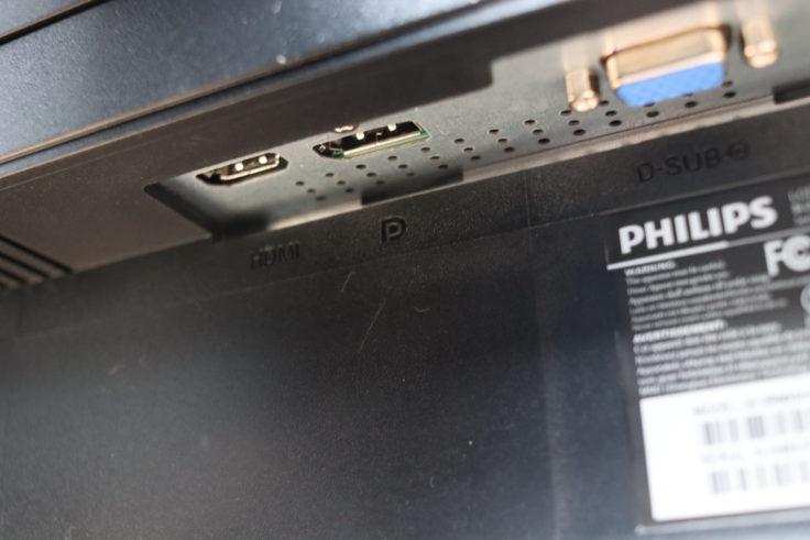 Philips 273B9 Monitor Anschlüsse links