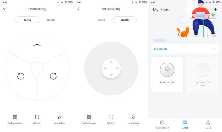 Roborock S7 Saugroboter App Fernbedienung