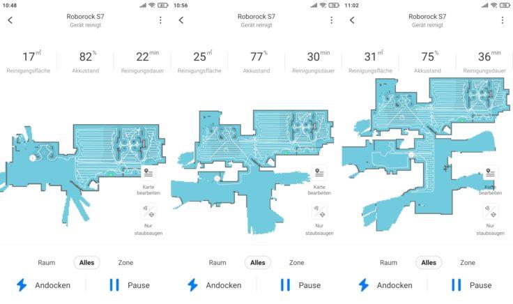 Roborock S7 Saugroboter App Mapping