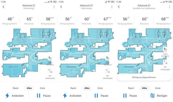 Roborock S7 Saugroboter App Mapping Reinigung abgeschlossen