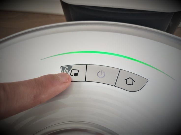 Roborock S7 Saugroboter Bedienelemente Buttons