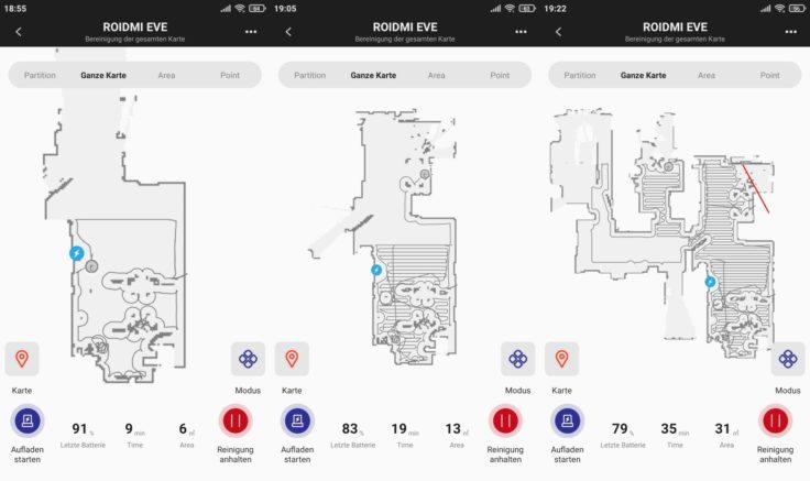 Roidmi EVE Plus Saugroboter Xiaomi Home App Beginn Mapping