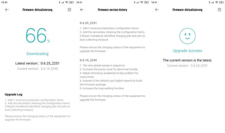 Roidmi EVE Plus Saugroboter Xiaomi Home App Firmware-Updates