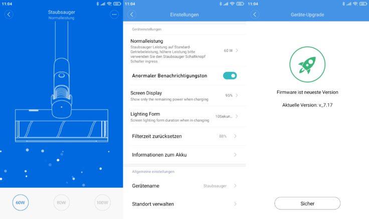 Roidmi NEX 2 Plus Akkusauger mit rotierenden Wischmoppen Roidmi App