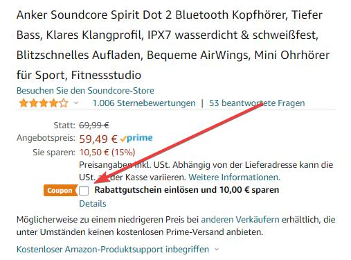 Soundcore Spirit Dot 2 Gutschein