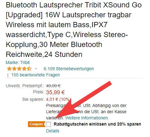 Tribit XSound Go Angebot