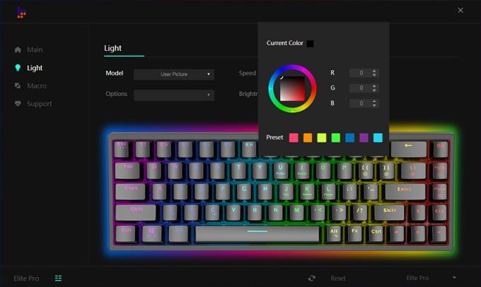 Tronsmart Elite Tastatur Software