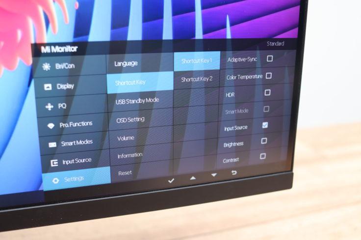 Xiaomi 27 Gaming Monitor Menue Shortcut