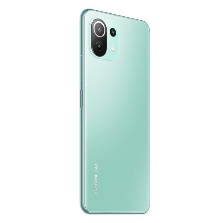 Xiaomi Mi 11 Lite 5G Rueckseite Mintgruen
