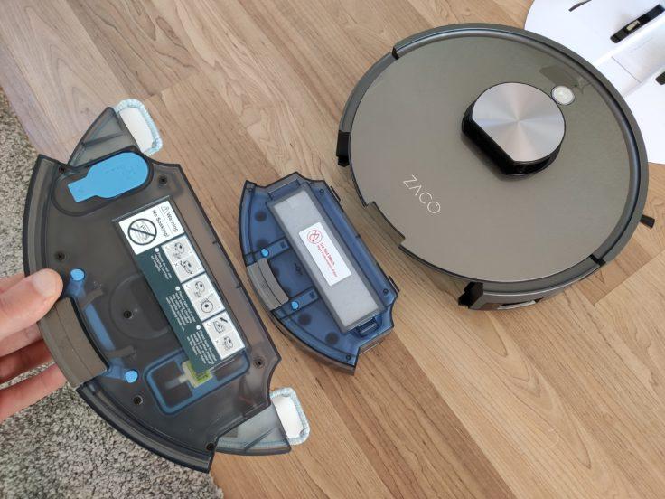 ZACO A10 Saugroboter Staubkammer gegen Wassertank austauschen