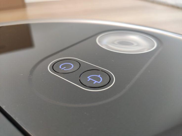 360 S10 Saugroboter Bedienelemente Leuchten