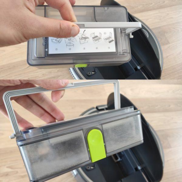 360 S10 Saugroboter Design Staubkammer