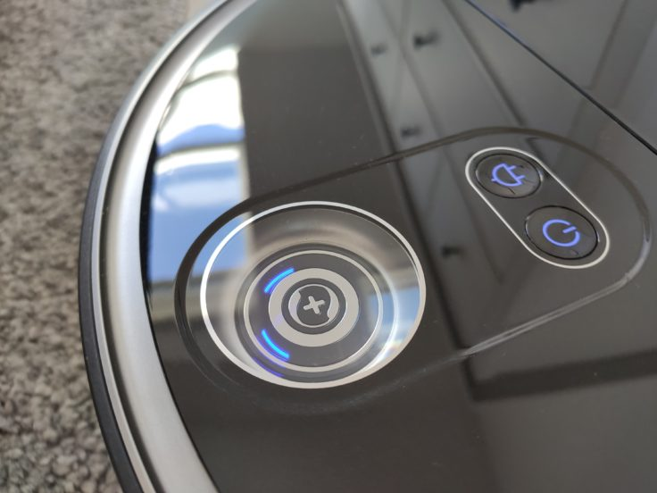 360 S10 Saugroboter Bedienelemente Sensor Oberseite