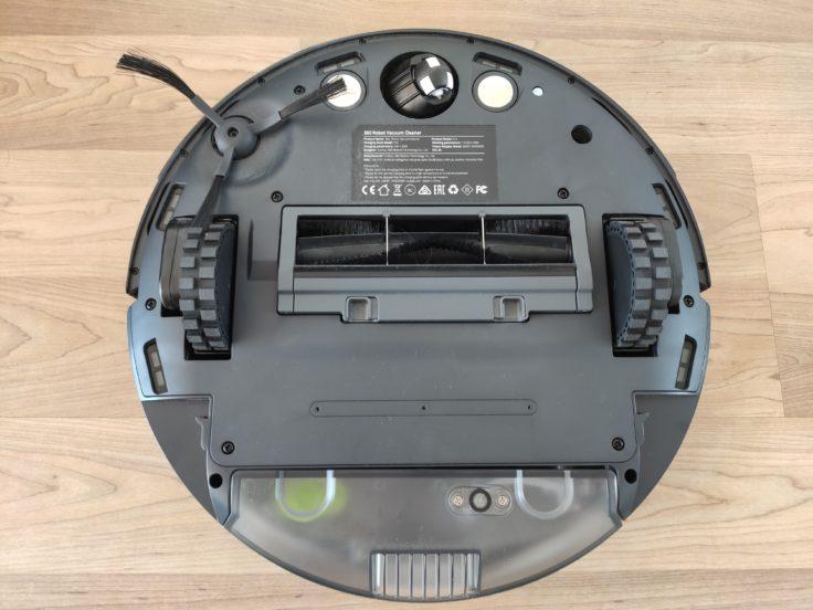 360 S10 Saugroboter Unterseite