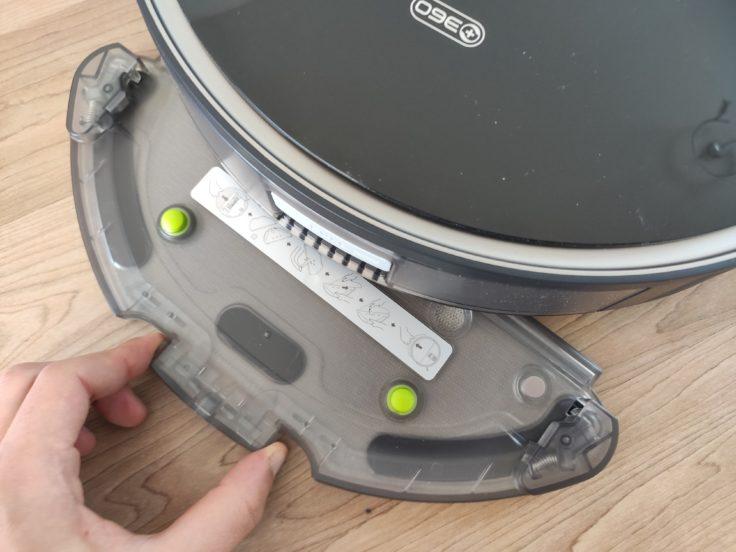 360 S10 Saugroboter Wischaufsatz anbringen
