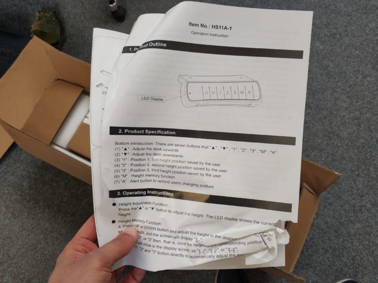 ACGAM ET225E Stehschreibtisch hoehenverstellbar Aufbauanleitung