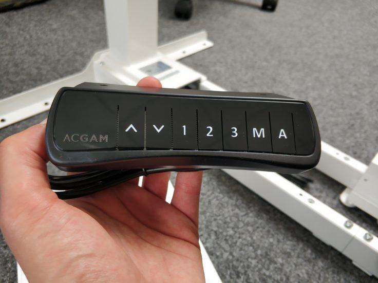 ACGAM ET225E Stehschreibtisch hoehenverstellbar Display ohne Anzeige