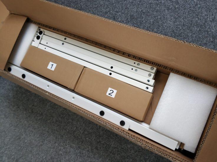 ACGAM ET225E Stehschreibtisch hoehenverstellbar Paketinhalte