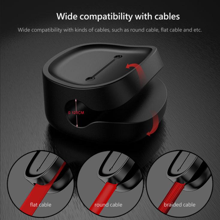 Baseus Magnetische Kabelhalterung Knoepfe