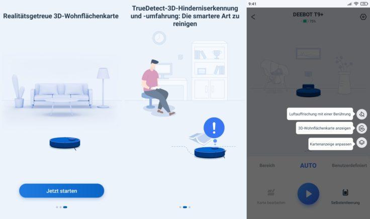 Ecovacs DEEBOT T9+ Saugroboter Home App Hinweise