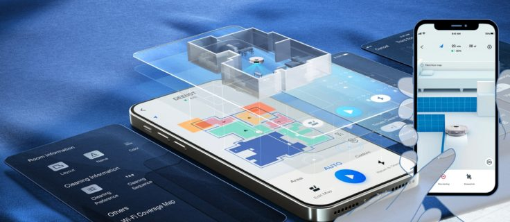 Ecovacs DEEBOT T9+ Saugroboter 3D-Kartendarstellung in App