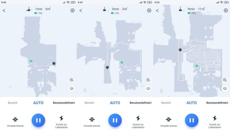 Ecovacs DEEBOT T9+ Saugroboter Home App Live-Mapping Beginn