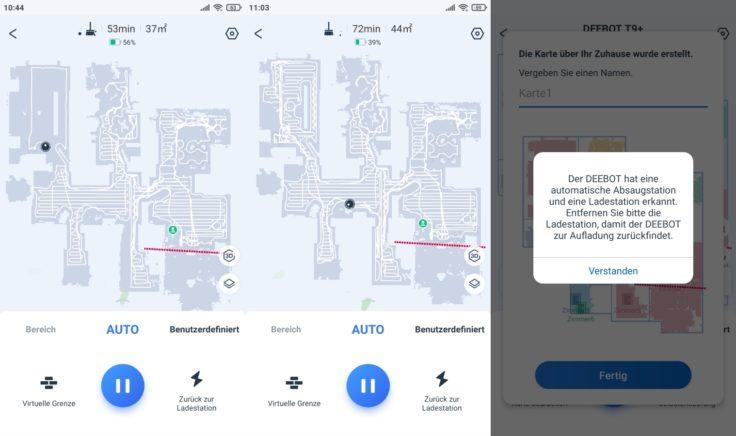 Ecovacs Deebot T9 Saugroboter App Mapping vollendet