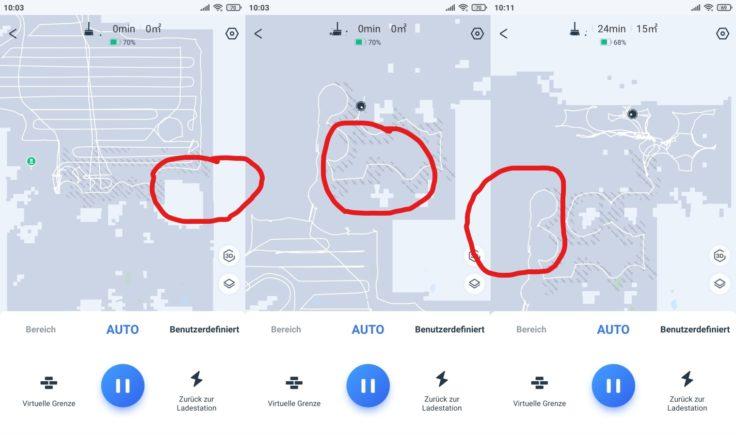 Ecovacs DEEBOT T9+ Saugroboter Teppiche grafisch untermalt in App