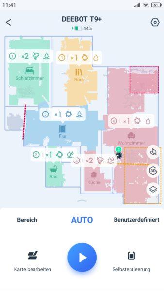 Ecovacs Deebot T9 Saugroboter App finale Karte