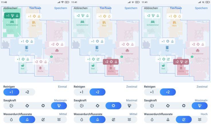 Ecovacs DEEBOT T9+ Saugroboter Home App selektive Raumeinteilung