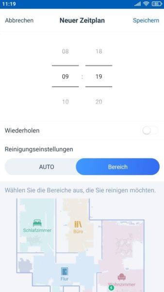 Ecovacs Deebot T9 Saugroboter App selektive Raumeinteilung Bereiche benennen vorgeben