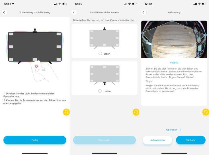 Govee WiFI LED Ambilight Klon Kalibrieren App