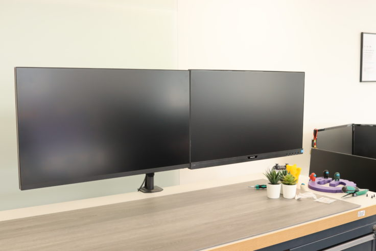 HUANUO Monitorhalterung doppelt zwei Monitore nebeneinander