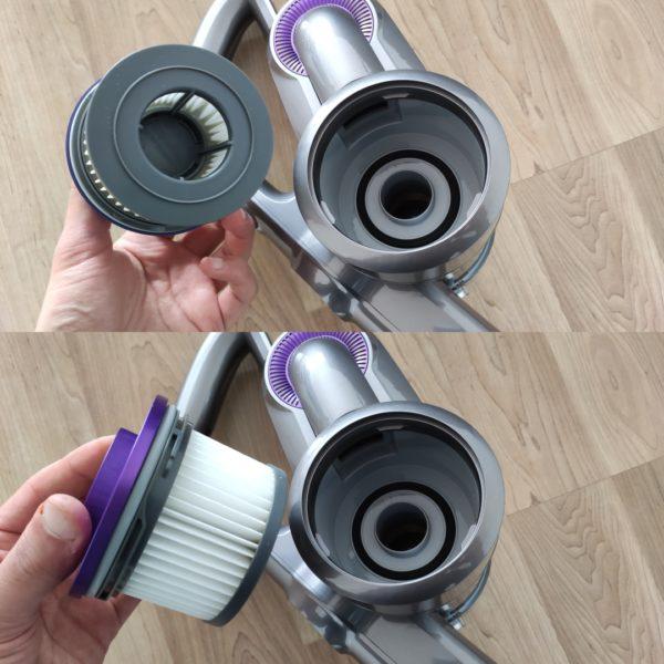Jimmy H9 Pro Akkusauger Filter aus Hauptelement entnehmen