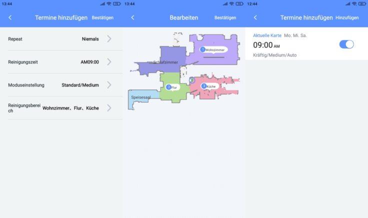 Lydsto R1 Saugroboter App Arbeitszeiten einplanen
